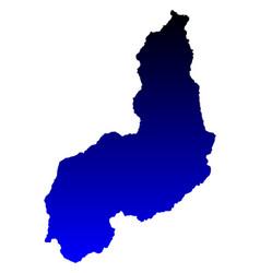 map of piaui vector image