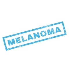 Melanoma Rubber Stamp vector