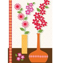 Mod flower vases vector