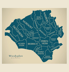 Modern city map - wiesbaden city of germany with vector