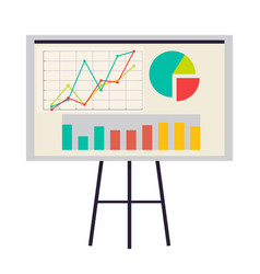 Office board with charts and diagrams icon vector
