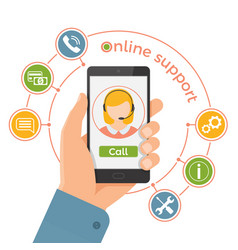 online support servicetechnical support call vector image