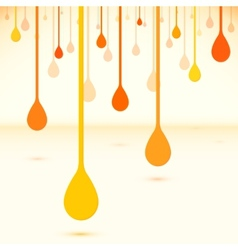 Orange drops in flat design style vector image