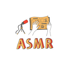 Page turning sound as an asmr trigger vector