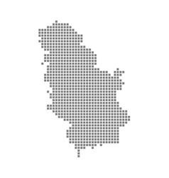 pixel map of senegal dotted map of senegal vector image