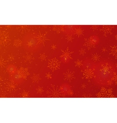Red Christmas pattern of snowflakes vector image