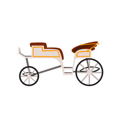 Retro carriage wedding coach antique vehicle vector