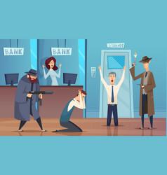 Robbery bank masked bandit gangster money vector
