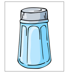 Salt shaker isolated on a white background vector