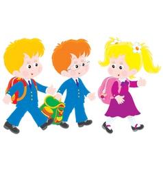 Schoolboys and schoolgirl vector