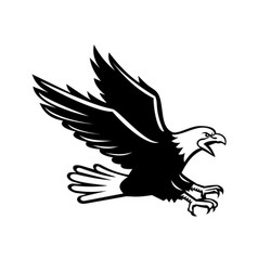 Screaming eagle side retro vector