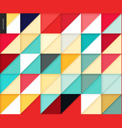seamless geometric papercut pattern vector image