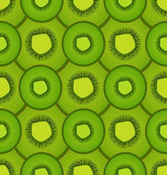 Seamless pattern of kiwi fruit vector