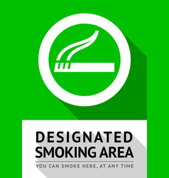 smoking area poster vector image