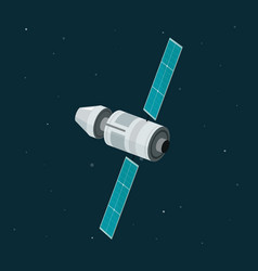 space station isolated on dark space background vector image