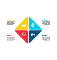 Square infographic with 4 options vector