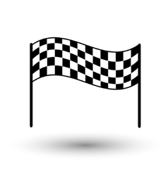 Start flag checkered flag finish flag vector image