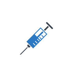 syringe related glyph icon vector image