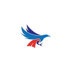 the colorful eagle hunts and holds the prey with vector image