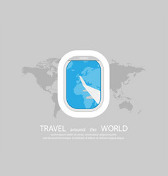 Travel travel poster or banner view from the vector
