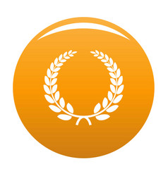 Triumph wreath icon orange vector