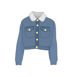 Trucker denim jacket fashion style item vector