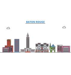 united states baton rouge line cityscape flat vector image