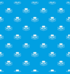 wine shop pattern seamless blue vector image