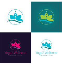Yoga and wellness logo and icon vector