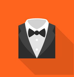 formal suit icon flat design vector image vector image