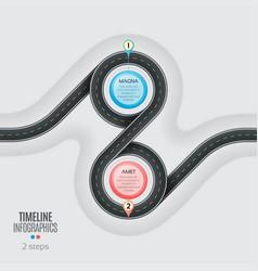 navigation map infographic 2 steps timeline vector image vector image