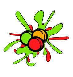 Paintball balls icon cartoon vector