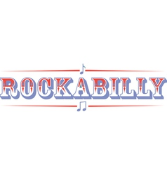 Rockabilly vector image