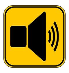 Speaker volume button vector image