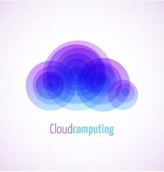 Cloud computing logo template icon vector image