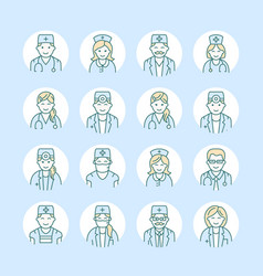 cute line icon of doctor hospital clinic vector image