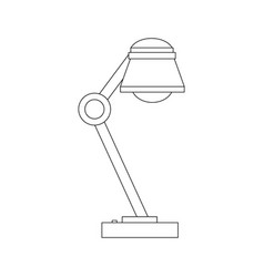 desk lamp interior energy bulb light vector image
