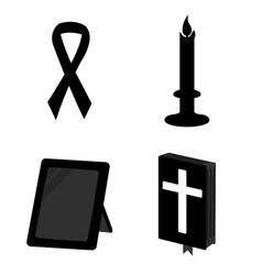 funeral simple icon isolated vector image