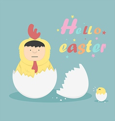 Hello easter vector image