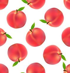 Peach seamless pattern vector image
