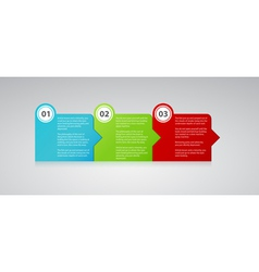three numbered color planes with text vector image
