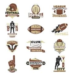 American football sign set vector
