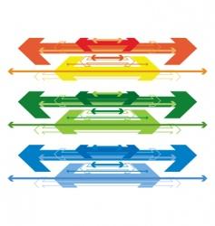 arrow banners vector image vector image
