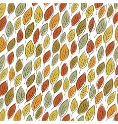 Autumn fallen leaves pattern Element for holiday vector image vector image