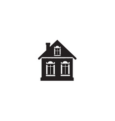 cabin sign village house silhouette isolated vector image