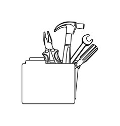 figure file with tools icon vector image