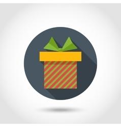 flat Gift box vector image vector image