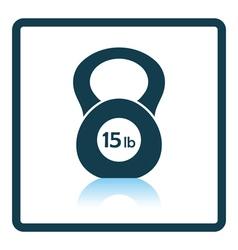 Kettlebell icon vector image