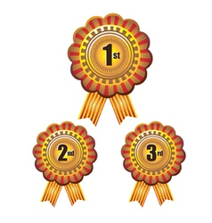 Set of Rosettes vector image vector image