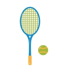 Tennis ball and racket flat vector image vector image